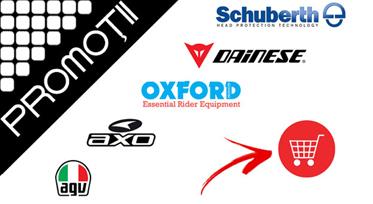 Promoţii MARI la United Motors: Schuberth, AXO, Oxford, AGV, Dainese. Tot sezonul!