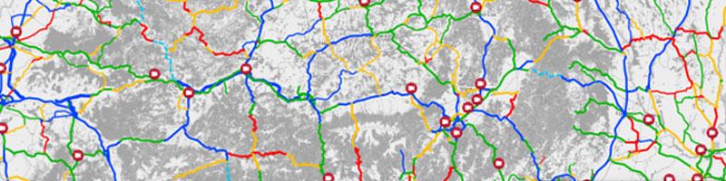 Harta interactivă a calității drumurilor din România