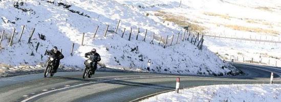 Sfaturi pentru mersul cu motocicleta iarna