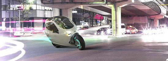 Futuristic C-1: motocicleta maşină care merge cu 160 km/h
