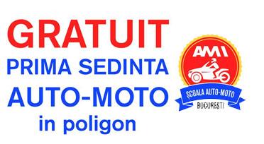 Prima şedinţă moto gratuită la Şcoala Moto Ami